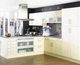 卸し売り白い食器棚の普及した木の台所食器棚