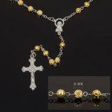 Дешевый лепесток Иисус католический Rose браслет Rosary 6 mm в смешанном цвете (IO-cr424)
