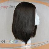 De elegante Bruine Pruik van het Menselijke Haar van de Kleur (pPG-l-0327)