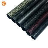 Gekleurde (Multikleur) Steen/de de Glanzende Buis/Pijp van de Vezel van de Koolstof door Customerized