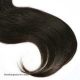 3.5X4レースの閉鎖の中間の部品の赤ん坊の毛のインドの直毛