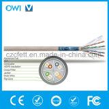 Ethernet-Kabel CAT6 F/UTP 550MHz ftp-Typ voller kupferner Draht-Zug-Kasten bewertete (cm) angeschwemmt