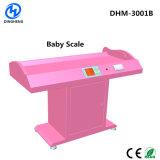 La altura de ultrasonidos y el peso de bebé lactante escala