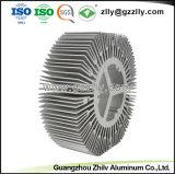 ISO9001 ISO 14001 de extrusión de aluminio el disipador de calor de la forma material de construcción