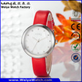 Orologio casuale della donna del quarzo della cinghia di cuoio di modo (Wy-060D)
