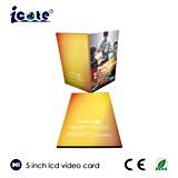 Брошюра A4 5.0 '' LCD видео- рекламируя промотирование для введения продукта