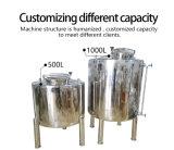 Suministrar el tanque de almacenaje de limpieza 360, capacidad modificada para requisitos particulares, la observación llana de cristal, hecha de SUS.
