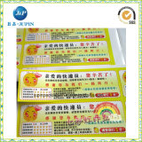 La aduana imprimió el fabricante de la pegatina para el parachoques de las escrituras de la etiqueta (JP-s055)