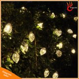 庭の木のための20のLEDの金属の葉太陽ストリングライト