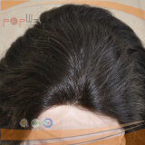 Peluca negra superior de seda del pelo de la Virgen (PPG-l-0541)