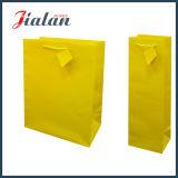 Yellow Pantone Color Logo imprimé sac en papier personnalisé pour le vin