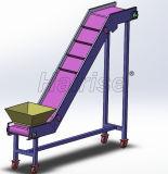Correa de PVC Hairise transportador inclinado en la industria de las tuercas
