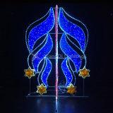 ロープのライトおよび鉄フレームが付いている通りの装飾のための上昇の星のモチーフライト