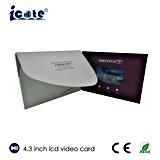 Новая конструкция брошюра LCD 4.3 дюймов видео- с высоким качеством