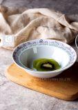Taça de salada bone china estoque 5.5' Boby Branco Impressão de logotipo