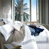 刺繍の安い価格の綿のホテルの寝具シート