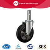 6 Zoll-Bremsen-runder Stamm-Aluminiumkern-Gummieuropa-Typ industrielle Fußrollen