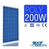 Панели солнечных батарей с Ce, сертификаты цены по прейскуранту завода-изготовителя 200W поли TUV