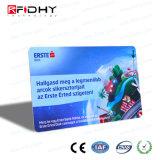 Cartão de papel de embalagem dobrado do bilhete de RFID para a identificação