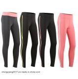 pantalones elásticos estupendos de la yoga de la mujer de la ropa de deportes de 85%Polyamide 15%Elastane