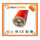 aislante de aluminio de 6.35/11kv Conductor/XLPE/cable de transmisión externo de acero del milivoltio de la envoltura del alambre Armored/PVC 3*95mm2