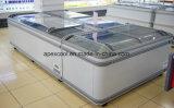 Congélateur de machine de Supermarketice/cas d'île/matériel crèmes réfrigérateur de supermarché