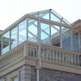Casa de vidro de alumínio de Sun da boa varanda do projeto para a venda