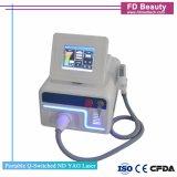 Tatouage de laser portable d'alimentation de l'usine de supprimer la machine Q Commutateur laser YAG ND