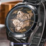 Poignet suisse de cristal de montre de logo des hommes faits sur commande de quartz pour l'homme (WY-17017B)