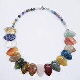 Personalizar la piedra natural de piedras de cristal hecho a mano mujer Collar largo