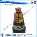 Isolamento del PVC e cavo di corrente elettrica dell'armatura del fodero