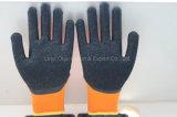 7g Terry Acrylic Shell Safety Glove met Met een laag bedekte het Latex van de Kreuk