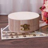 Деревянные ремесла украшения круглый ящик для хранения древесины искусства дизайна