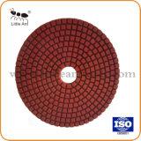 125mm de Natte Oppoetsende Stootkussens van de Diamant voor Graniet en Vloer