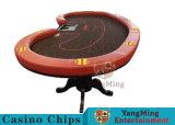호랑이 다리 공장 공급 (YM-BA11-2)의 전용 10명의 선수 카지노 테이블 배치를 가진 카지노 택사스 Holdem 부지깽이 테이블