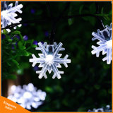 20 LED flocon de neige des feux de fées fleurs chaîne solaire étanche extérieur chaîne solaire jardin décoré de feux de Noël