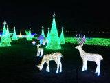 خضراء حبل [لد] [كريستمس تر] يشخّص أسرة عيد ميلاد المسيح حلى