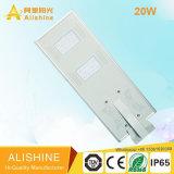 20W refrescan las luces de calle solares todas juntas blancas del LED con CCTV/WiFi/Radar/Sensor