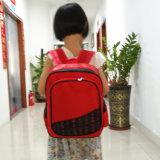 Zaino rosso su ordinazione dei capretti del sacchetto di banco del bambino di modo della stampa 600d