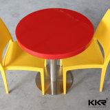 De uitstekende kwaliteit Gekleurde Rode Eettafel van de Koffiebar van het Restaurant