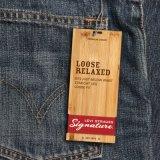 Tag novo do cair das calças de brim do cartão por atacado para a roupa