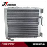 Échangeur de chaleur en aluminium brasé par vide personnalisé d'ailette de plaque