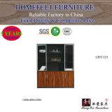 Classeur en bois moderne de meubles de bibliothèque de panneau du bureau de conception cpc