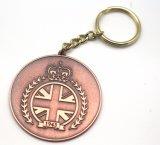 Promoción Logotipo personalizado Recuerdos de metal de bronce regalo Llavero regalos de viaje