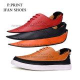 古典的なイタリアの偶然靴はヨーロッパの市場の本革を設計する