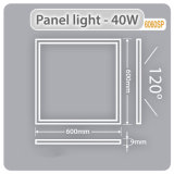 Non-Flickering Vierkante LEIDENE van het Comité Lichte 40W 600X600 LEIDENE Licht van het Comité