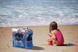 Kundenspezifischer Ineinander greifen-Strandtote-Beutel für Markt-Picknick /Swimming