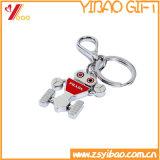 Geplateerde het Zilver van Keychain van het Metaal van het Ontwerp van de douane (yb-mk-16)