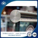 屋外のステンレス鋼のガラスバルコニーの柵デザイン