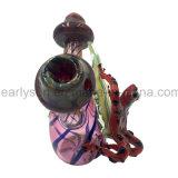 مزدوجة لون قرنفل فطر زجاجيّة يد أنابيب مع حمراء [تر فروغ] ملحق ([إس-هب-161])